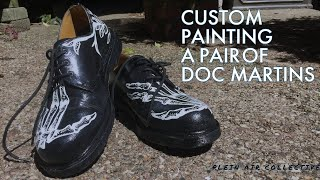 Custom Painting A Pair Of Doc Martins