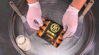 MAGNUM Ice Cream Rolls | Ice Cream with Magnum Double Peanut Butter Chocolate Bar | Satisfying ASMR