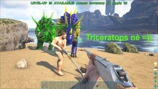 ARK: Survival Evolved Online #18 - Đi bắt khủng long sấm sét Triceratops  ba sừng =))