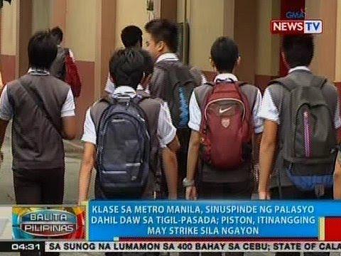 [GMA] BP: Klase sa Metro Manila, sinuspinde ng Palasyo dahil daw sa tigil-pasada