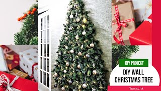 DIY Wall Christmas Tree - Holiday Decor Ideas
