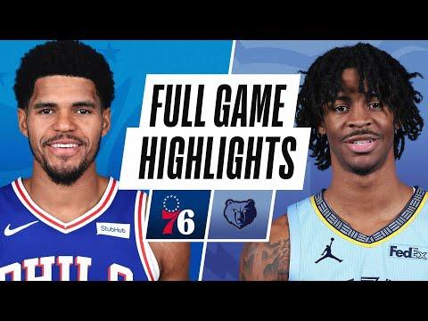 Memphis Grizzlies vs Philadelphia 76ers</a> 2021-01-17