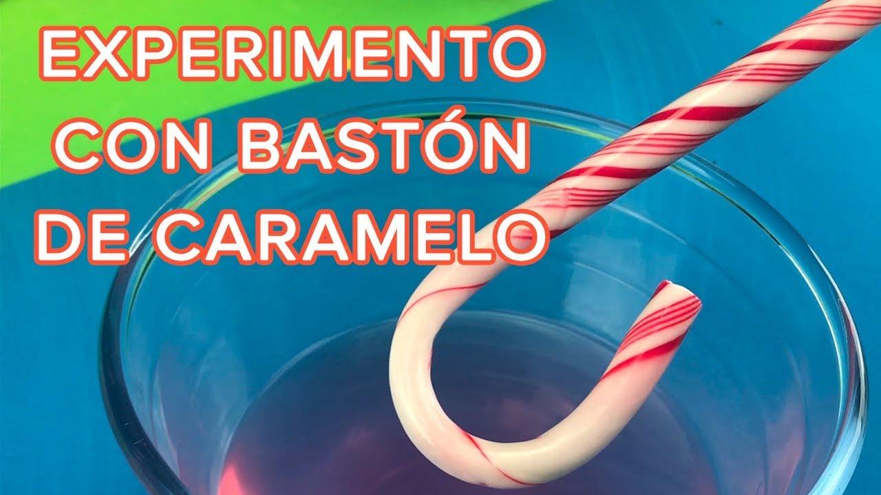 Experimento casero con bastón de caramelo | Disolución del azúcar en agua
