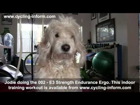Jodie doing the 002 – E3 Strength Endurance Ergo Indoor cycling training workout