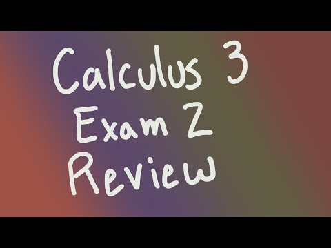 Calculus 3, Multivariable differentiation exam review (Fall 2019 ...