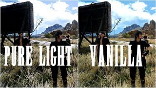FINAL FANTASY XV PC MAX GRAPHICS Vanilla vs reshade comparison 60fps 4k gtx 1080ti
