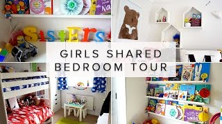 KIDS SHARED BEDROOM IDEAS ROOM TOUR- RAINBOW COLOURS