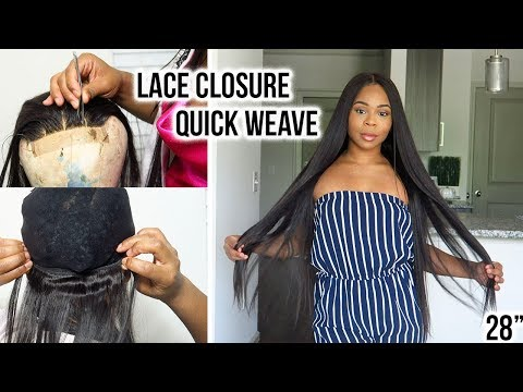 LACE CLOSURE QUICK WEAVE: How to Install, Easy Technique ! | Ali Lolly hair