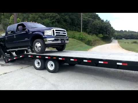 Truck to be loaded on Trailer malfunctions