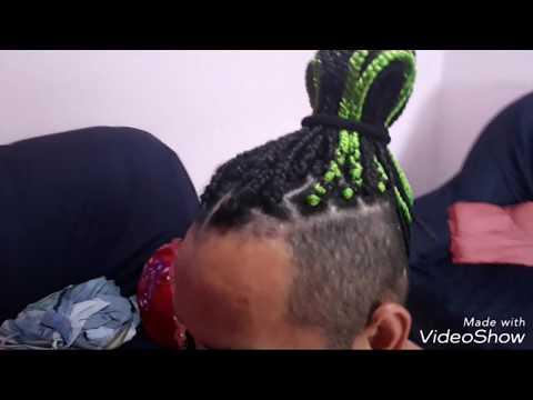 #12:box braids masculina🖤💚