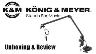Der König zieht ein! | Mikrofonarm von König & Meyer - K&M | Unboxing Review Deutsch German