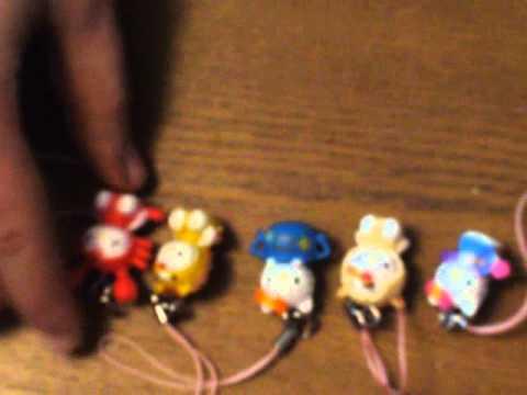 Hello Kitty подвески знаки зодиака (unpacking, opening)