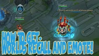 How To Get Worlds Recall and Emote | LOL Hextech Crafting