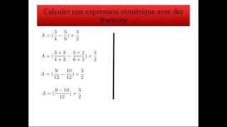 Calcul d'une expression avec des fractions