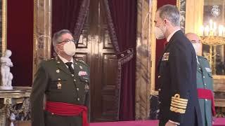 Audiencia militar a un grupo de Generales de Brigada