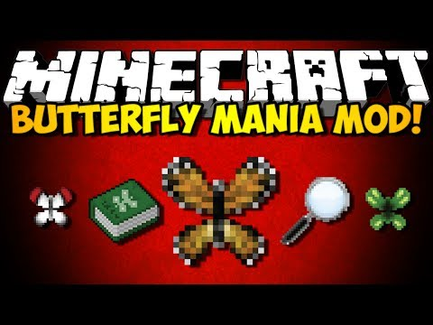 Minecraft Butterfly Mania Mod: OVER 100 BUTTERFLIES! (HD)
