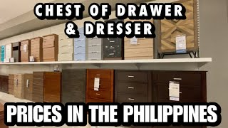CHEST OF DRAWER & DRESSER PRICES - MANDAUE FOAM | PRICES IN THE PHILIPPINES JUNE 2020