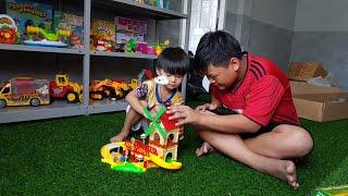 Đồ Chơi Lắp Ráp Mô Hình Nhà Và Xe Lửa Chạy Bằng Pin ❤ TinTin TV Kids Toy Media