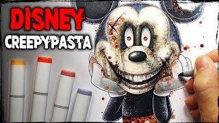 A Terrifying Experience At Disney World - Creepypasta Story + Drawing