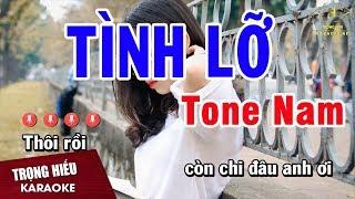 Karaoke Tình Lỡ Tone Nam Nhạc Sống | Trọng Hiếu