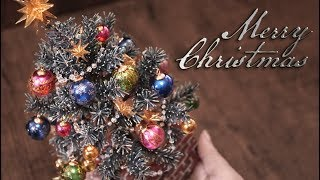 【石粉粘土×水引】クリスマスツリー第3弾 DIY Christmas Tree Part 3 [Stone Powder Clay×MIZUHIKI]