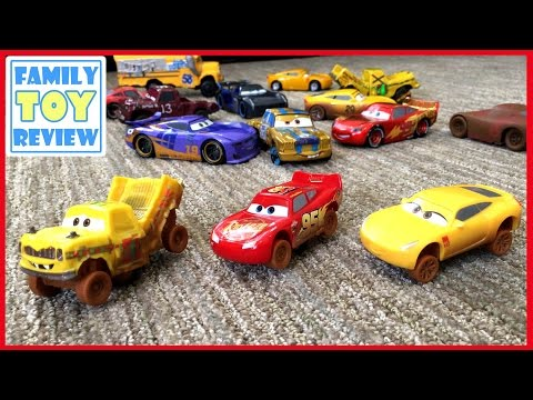 Disney Cars 3 Toys - Demo Derby Crazy 8 Crashers - Taco Cruz Ramirez Lightning McQueen Disney Cars
