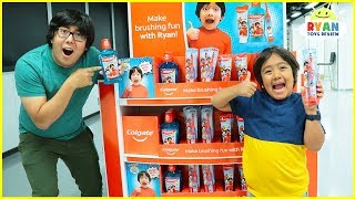 Ryan Build his own Toothbrush at the Colgate Factory! New Ryan's World Dental Care Revealed!