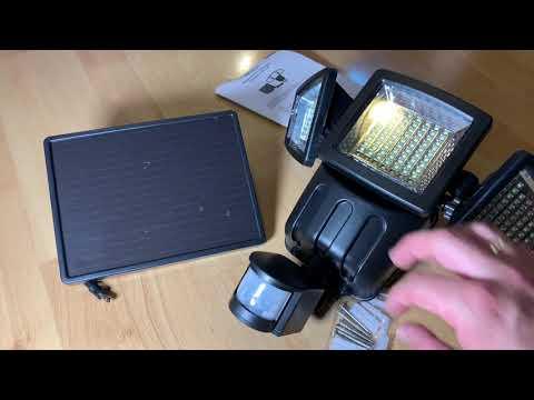Solarleuchten Außenleuchte Sicherheitsleuchte Bewegungsmelder Solarlampe unboxing und Anleitung