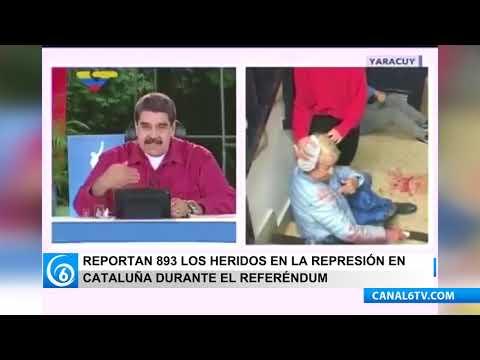 Nicolás Maduro, criticó el actuar del gobierno español durante el referéndum independista