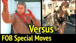 FOB Quiet vs Ocelot Animations and Special Moves in Metal Gear Solid V: Phantom Pain (MGS5)