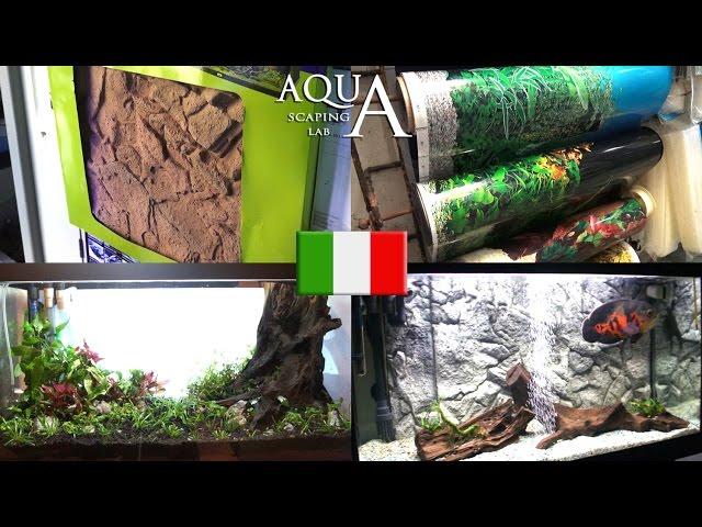 Aquascaping Lab - Sfondi Acquari SFONDO 3D, PELLICOLE ADESIVE OPACHE, IMMAGINI ESTERNE installazione