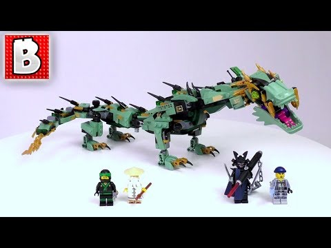 LEGO Ninjago Movie Green Ninja Mech Dragon Set 70612 | Unbox Build Time Lapse Review