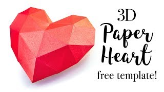 3D Paper Heart Tutorial - Valentines Day DIY - Paper Kawaii