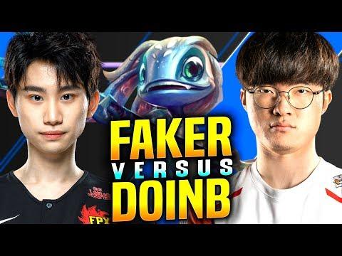 Faker vs DoinB! - SKT T1 Faker Fizz vs FPX DoinB Galio! | SKT T1 Faker KR SoloQ Patch 9.22
