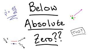 Can Temperatures Go Below Absolute Zero?