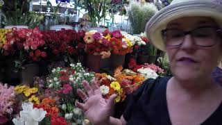 We shopping at the Flower Market in Mexico.