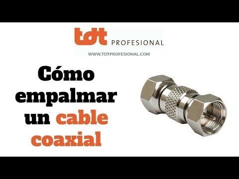 Cómo empalmar correctamente un cable coaxial