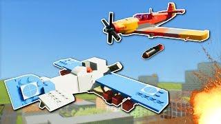 CITY PLANE BATTLE! - Brick Rigs Multiplayer Gameplay - Lego Plane Base Battle!
