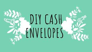 SUPER CUTE *** DIY CASH ENVELOPES*** Save Money Dave Ramsey Style!