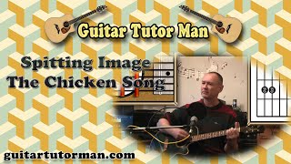 The Chicken Song - Spitting Image - Acoustic Guitar Lesson