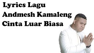 Andmesh Kamaleng - Cinta Luar Biasa Lirik Video