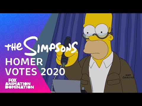 Homer Votes 2020 | THE SIMPSONS