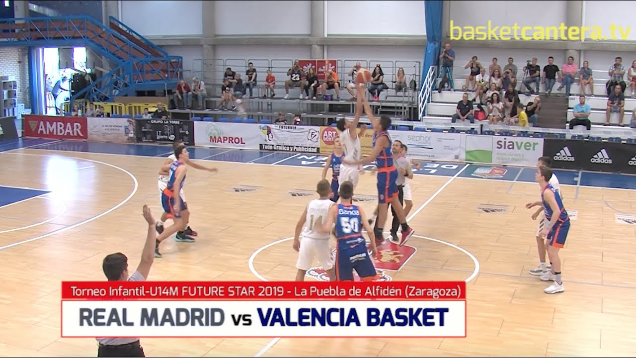 U14M - REAL MADRID vs VALENCIA BASKET.- Torneo Infantil FUTURE STAR 2019 La Puebla de Alfindén