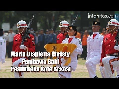 Sosok : Maria Luspietta Christy Pembawa Baki Paskibraka Kota Bekasi
