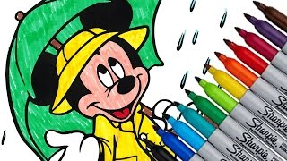 Mickey Mouse Disney Coloring Page Fun Kids 2016 HD Video