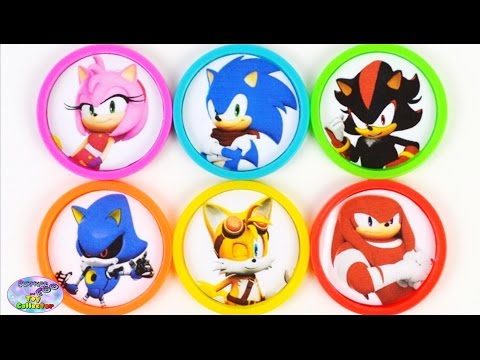 Learn Colors with Sonic Boom Amy Rose Shadow Tails Toys Surprise Egg and Toy Collector SETC