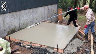 DIY Shed - Concrete Slab Foundation - Making My Dream Woodshop