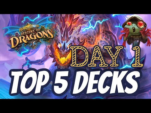 TOP 5 DECKS! Descent of Dragons
