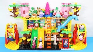 Peppa Pig Blocks Mega House With Water Slide Toys For Kids - Lego Duplo House Building Toys #2