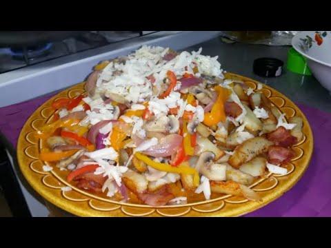 papas fritas con vegetales